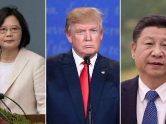 From left to right, President of Taiwan, Republic of China Tsai Ing-wen, US President Donald Trump, President of the People's Republic of China Xi Jinping I Image: CNN