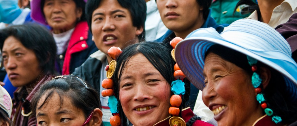 Tibetan people at the Nagqu Horse festival I Image: Wikipedia Commons
