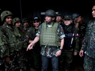 President Rodrigo Duterte makes his third visit to Marawi City after troops regained a key terrorist stronghold | Source: Malacañan Photo
