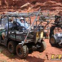 Polaris Ranger 6x6 used as a Mobile Film Platform