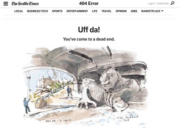 seattle times 404 error
