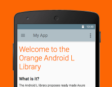Orange Android L Axure Library design & training workshop