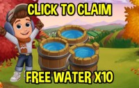 Farmville 2 GIFTS FREE Water x10 April 29 (Friday)