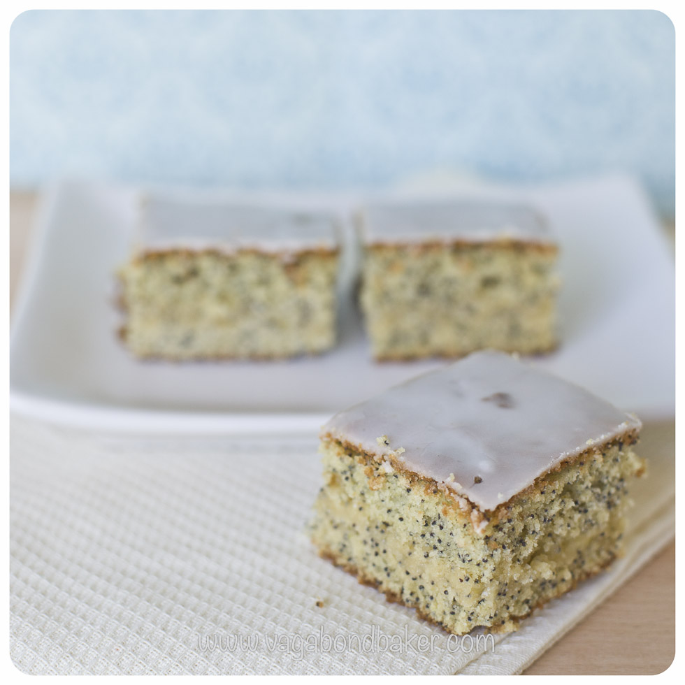 Lemon and Poppy Seed Squares | Vagabond Baking