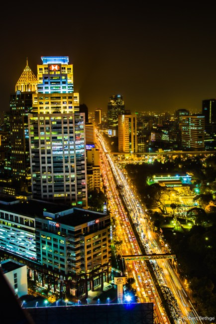 Bangkok Skyline from Sofitel SO at Night