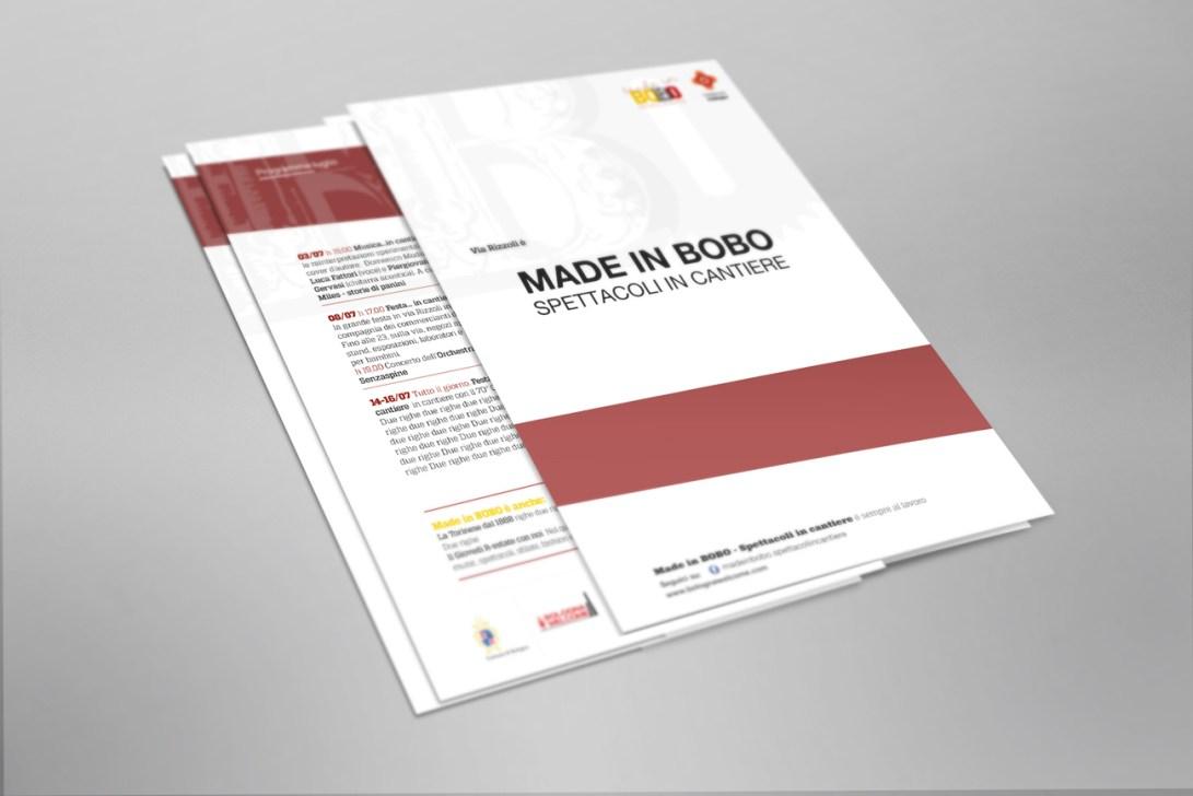 Flyer A5 istituzionale eventi Made in BOBO