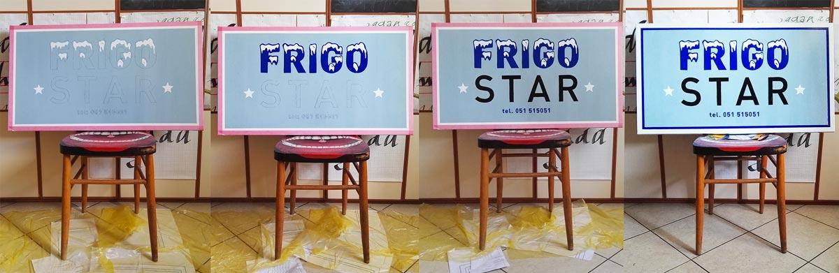 insegna frigo start work in progress