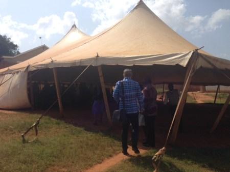Tent church Uganda