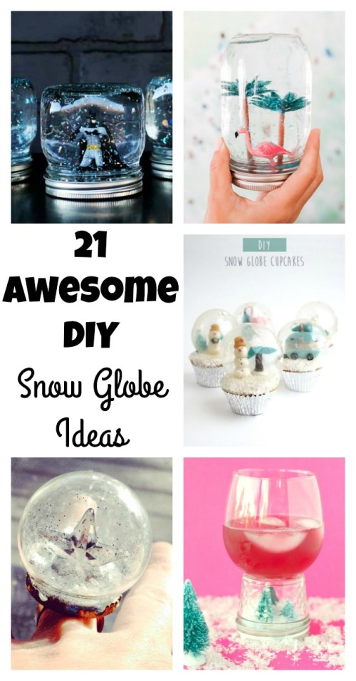 Medium Of Homemade Snow Globe
