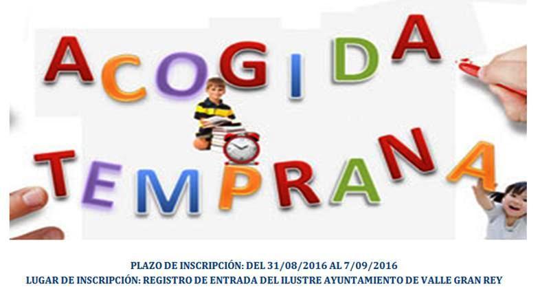Inscripción Acogida Temprana 2016/2017