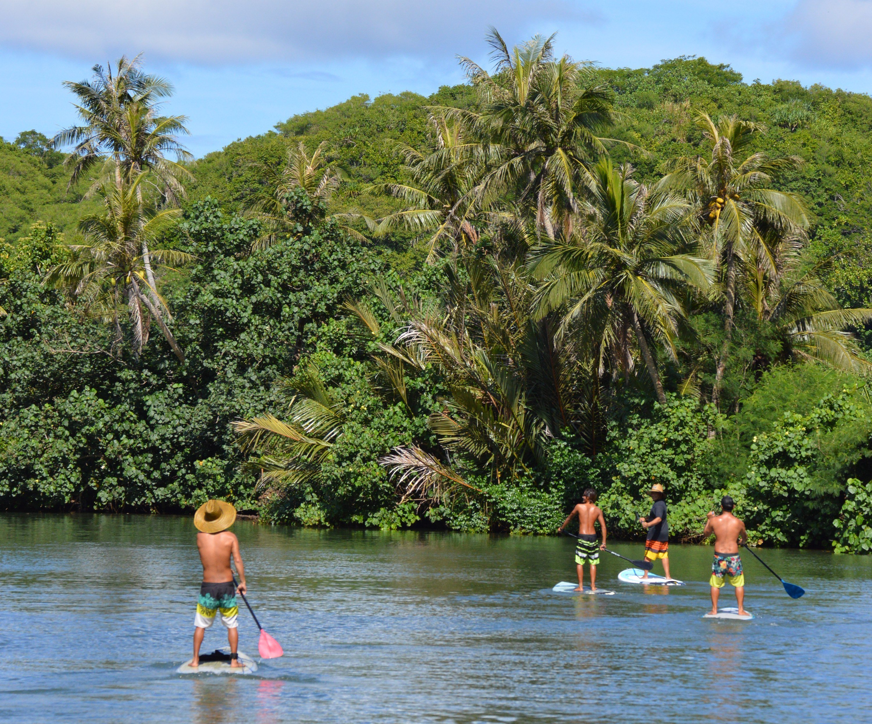 Stand Up Paddle Boarding Valley of the Latte Adventure Park Guam