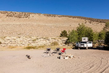 Day Two: Camping on the shores of Grant Lake
