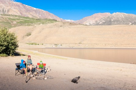 Day Three: Breakfast on the shore of Grant Lake