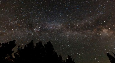 Day Eight: Dazzling night sky from our campsite in Grover Hot Springs State Park