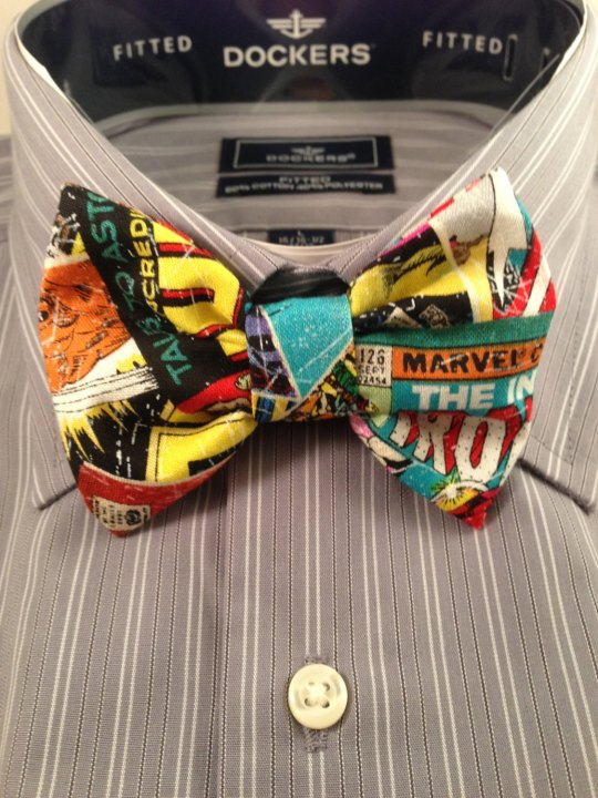 Vamers Store - South Africa - Merchandise - Apparel - Bowtie - Marvel Comics Inspired Vintage Comic Book Print Bowtie 01