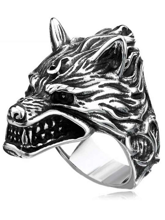 Vamers Store - Jewellery - Game of Thrones - Stainless Steel House Stark of Winterfell Dire Wolf Ring - 01