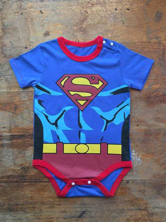 Vamers Store - Apparel - Baby Clothing - Superman Suit Baby Romper - Front