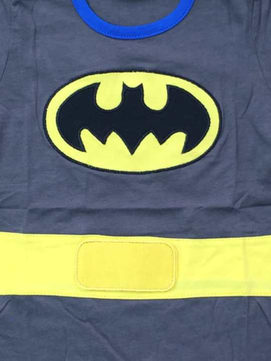 Vamers Store - Apparel - Baby Clothing - Batman Suit with Cape Baby Grow Romper - Main