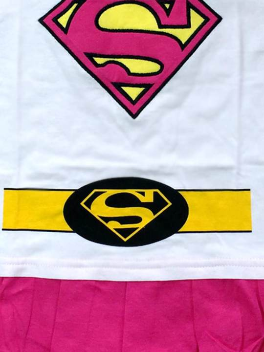 Vamers Store - Apparel - Baby Clothing - Supergirl Suit with Cape Baby Grow Romper - Main