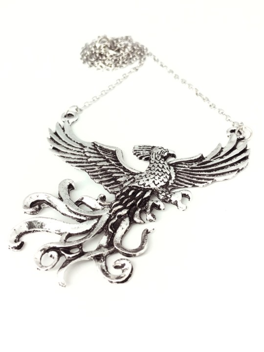 Vamers Store - Jewellery -  Fawkes the Phoenix pendant and necklace inspired by Harry Potter - Vintage - Metal - 07.5