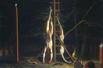 De lichamen van de gebroeders de Witt op het Groene Zoodje – Jan de Baen, ca. 1672-1702 (Rijksmuseum Amsterdam)