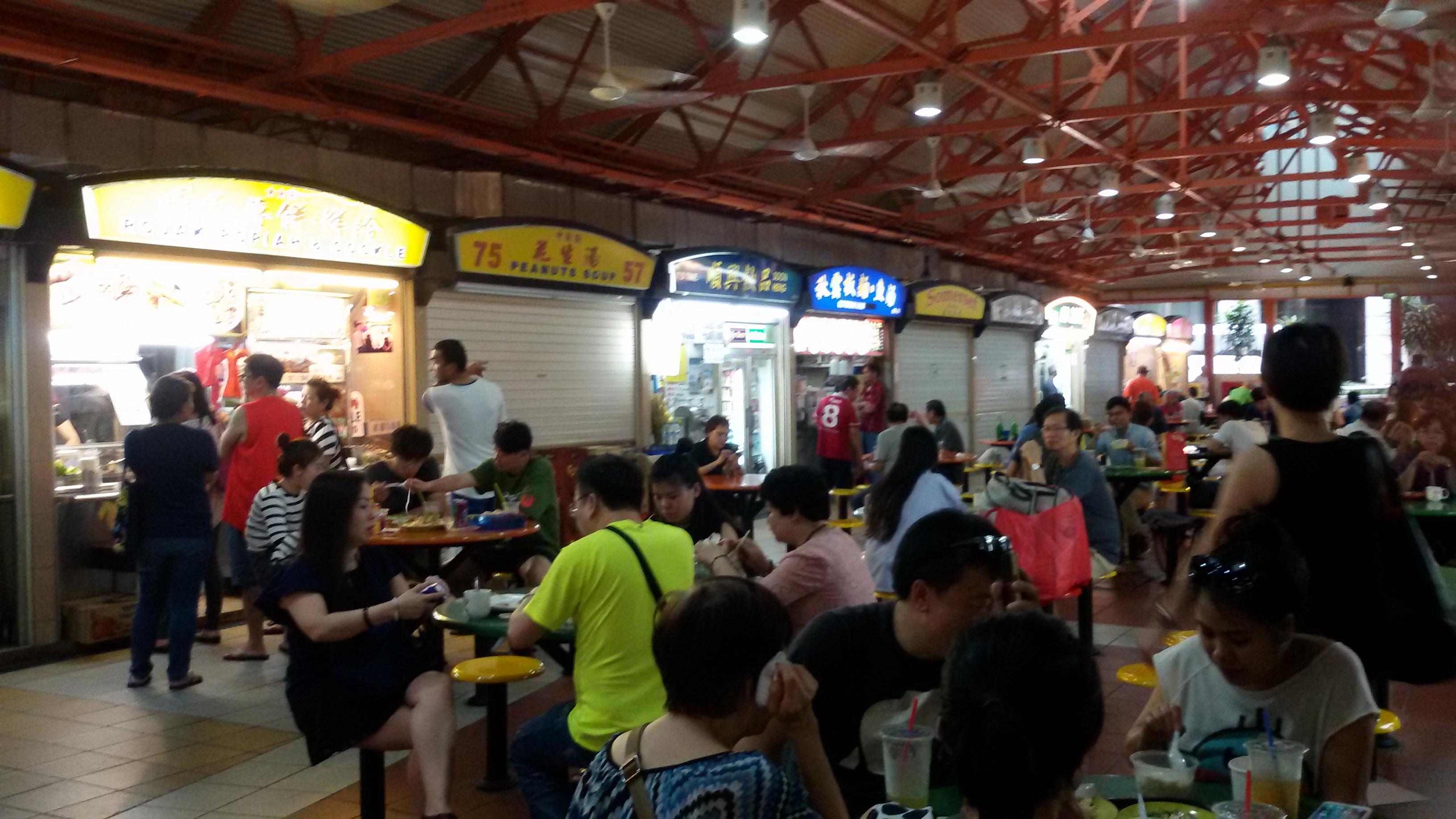 Prima eten op de vele foodcourts in Maleisië en Singapore