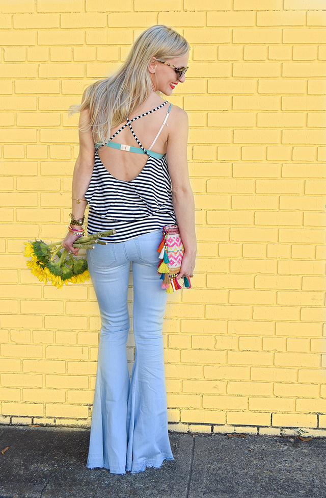 vandi-fair-blog-lauren-vandiver-dallas-texas-southern-fashion-blogger-blank-nyc-frayed-belle-yeah-belle-bottom-jeans-striped-ruffled-tank-top-baublebar-capri-amulet-necklace-4