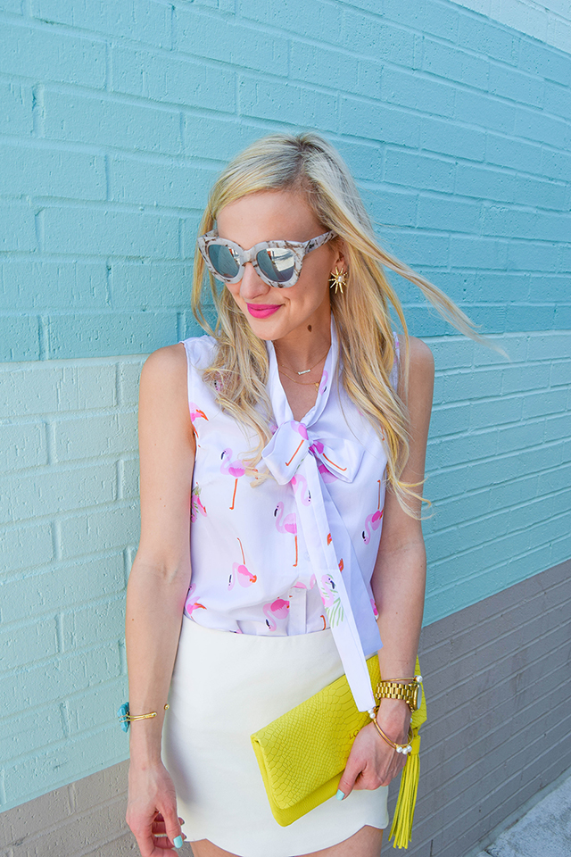 vandi-fair-lauren-vandiver-dallas-texas-southern-fashion-lifestyle-blogger-2-year-blogiversary-24-things-about-me-goodnight-macaron-pink-flamingo-shirt-topshop-white-scallop-mini-skirt-10