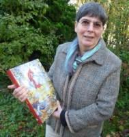 Bernadette met 'De genade van de steiger in haar hand'