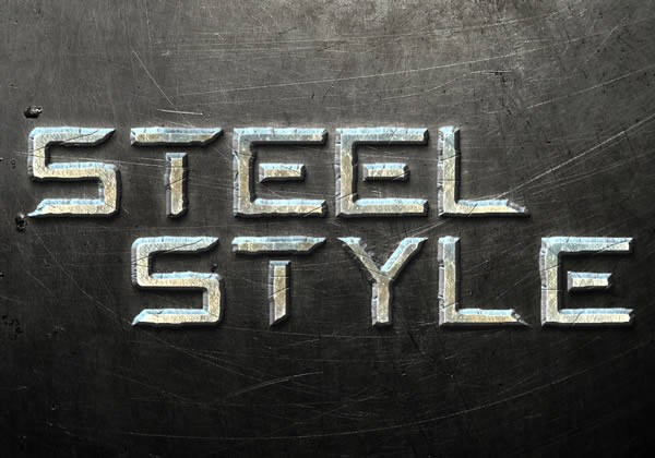 Create a Steel Text Effect in Photoshop