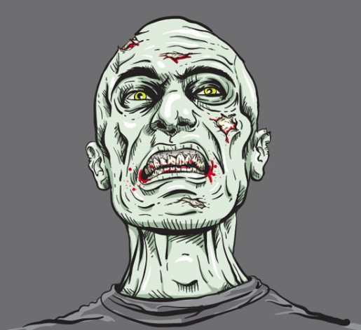 Create a Grisly Zombie Illustration with a Pen Tablet