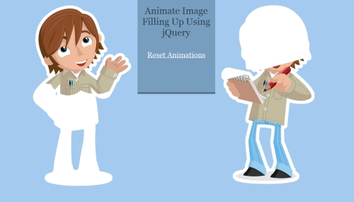 Animate Image Filling Up Using jQuery