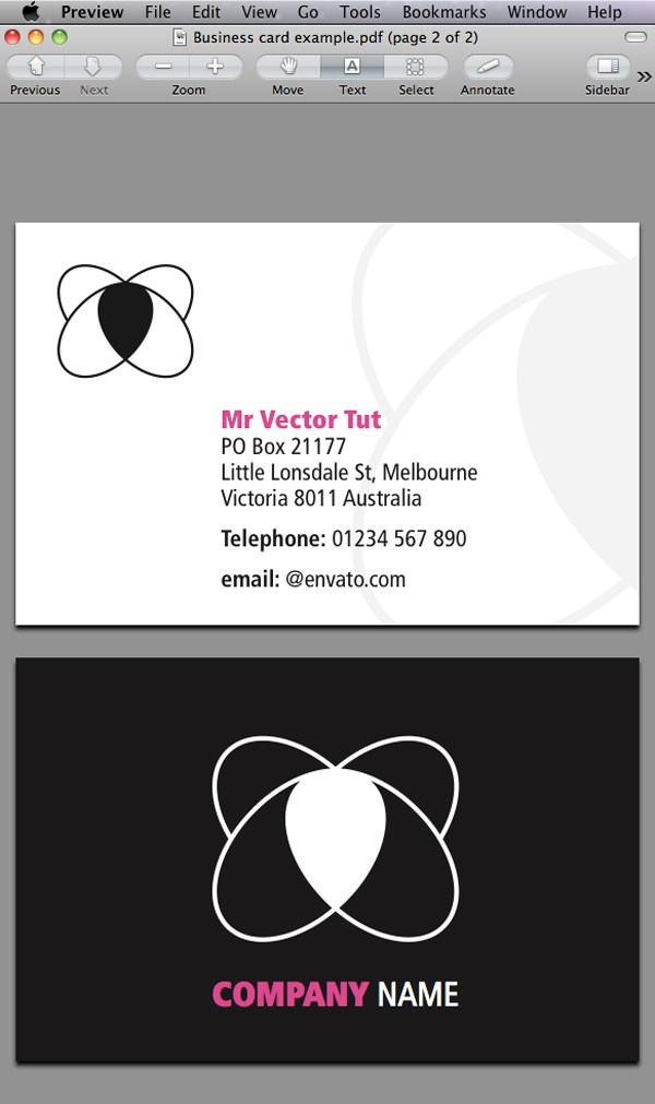 Designing a Business Card with InDesign