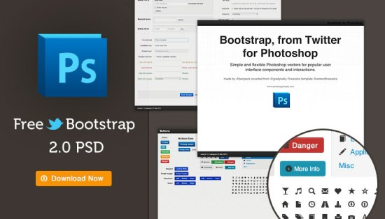 Bootstrap 2.0 Photoshop Template