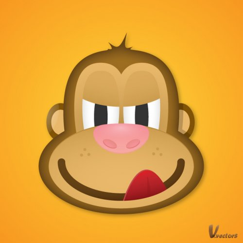 Create the Face of a Greedy Monkey