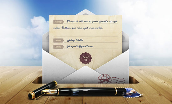 Contact from on Dribbble