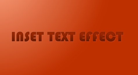 Inset Text Effect