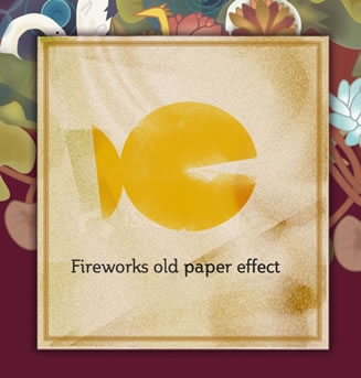 Old Paper Effect in Fireworks