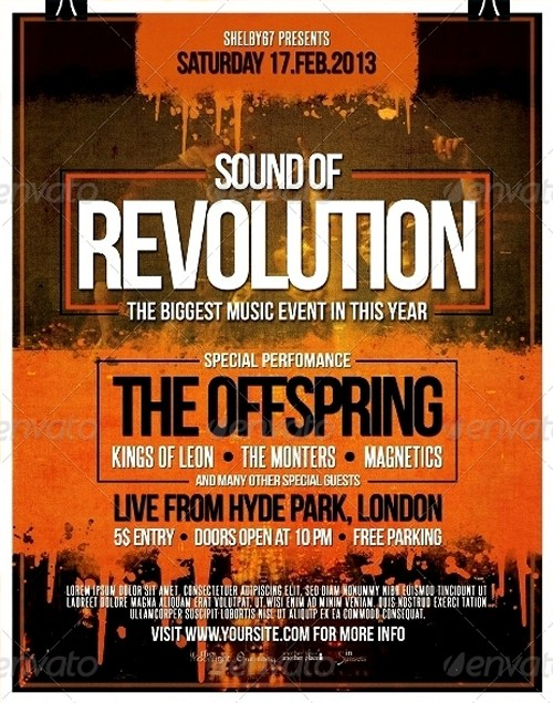 Rock Music Event Flyer/Poster