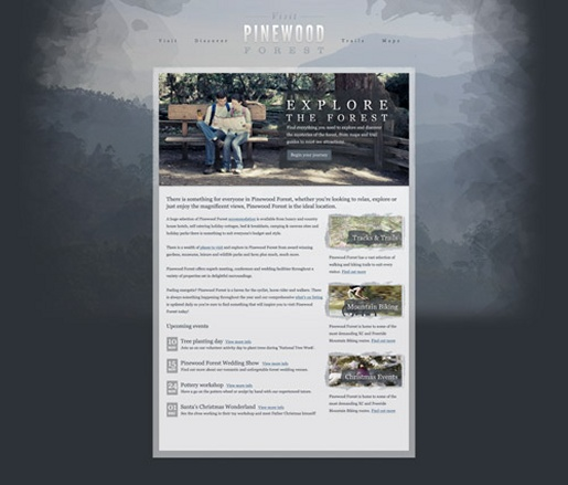 Design a Textured Outdoors Website in Photoshop
