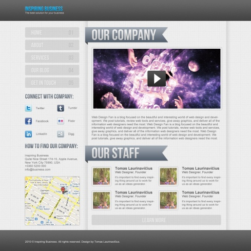 Create a Clean Business Web Layout in Photoshop