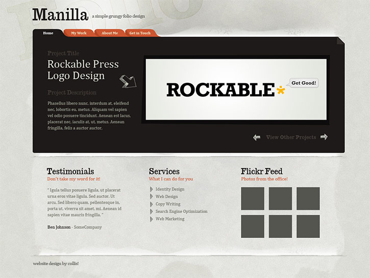 Create a Grungy Paper Textured Website