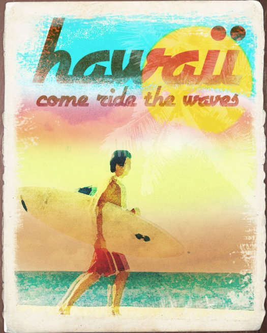 How to Make a Worn Vintage Beach Ad in Photoshop