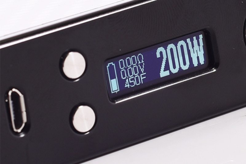 Lost Vape Efusion DNA200 Screen Buttons