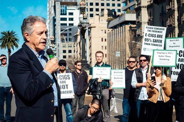 Dr. Colin Mendelsohn addresses the crowd - photo by Kelvin Kam