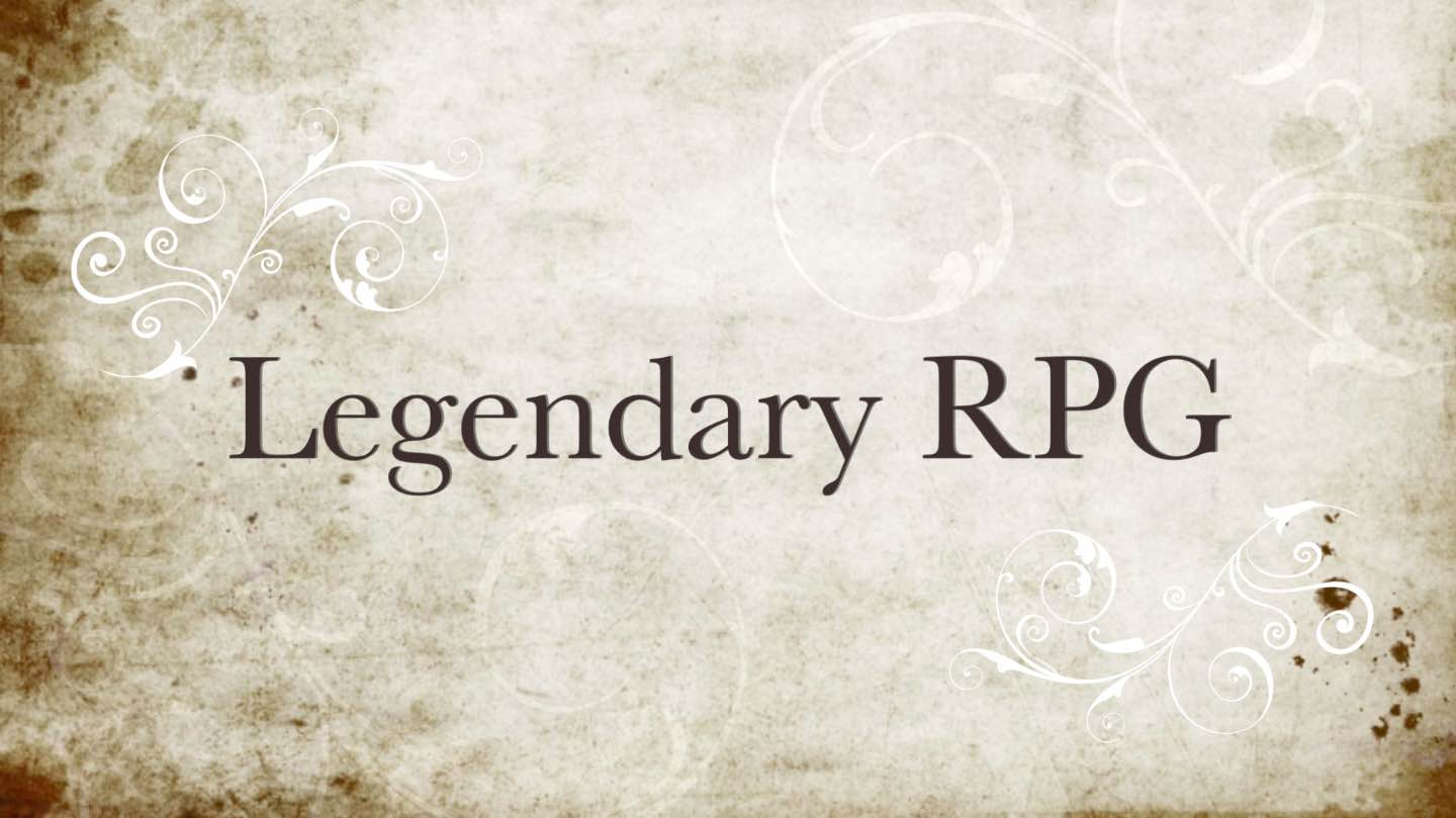 A still from the title sequence of a video about Legendary RPG.