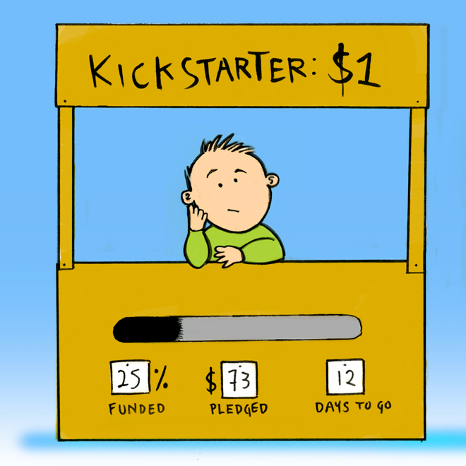 A low stakes Kickstarter campaign.