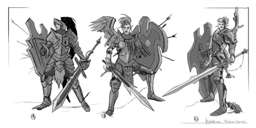 Paladin character concepts.