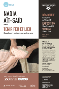 Affiche Nadia Aït-Saïd | TENIR FEU ET LIEU