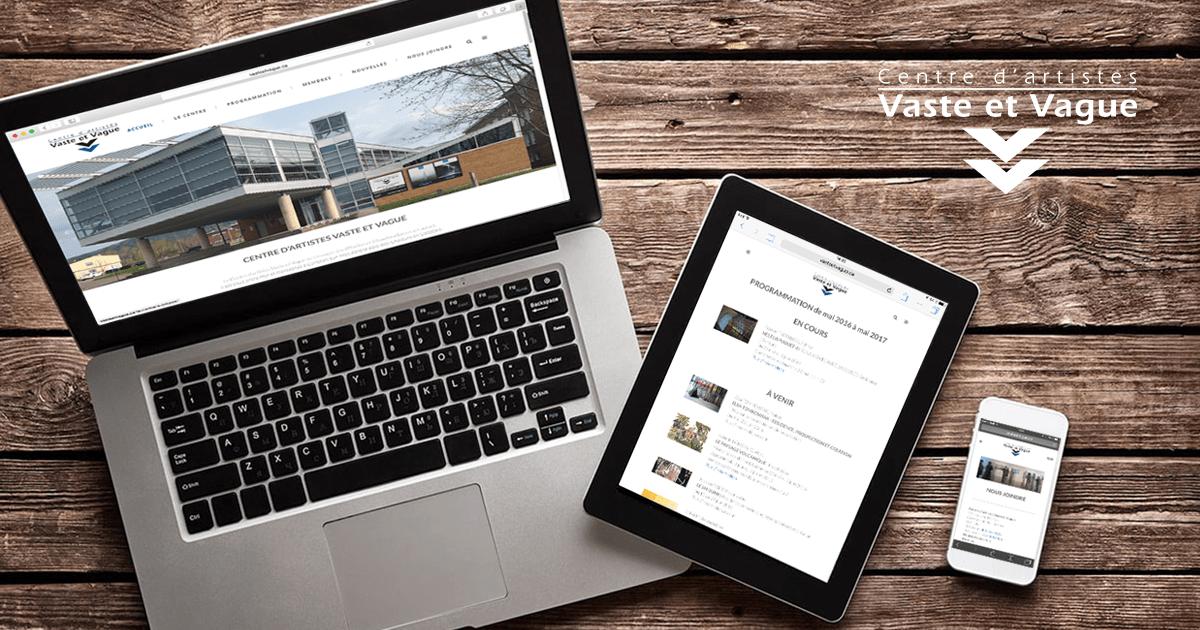 Nouveau site Internet Vaste et Vague